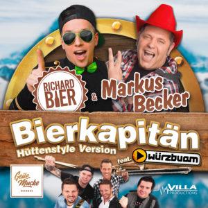 Offizielles Cover Artwork Markus Becker, Richard Bier - Bierkapitän Geile Mucke Records